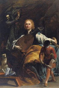 Giuseppe Maria Crespi Retrato del conde Fulvio Grati c. 1720-1723 Óleo sobre lienzo. 228 x 153 cm