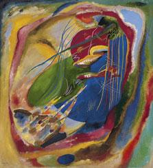 Wassily Kandinsky Pintura con tres manchas, nº 196 1914 Óleo sobre lienzo. 121 x 111 cm