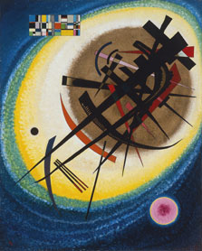 Wassily Kandinsky En el óvalo claro 1925 Óleo sobre cartón. 73 x 59 cm