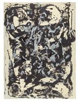 Jackson Pollock Marrón y plata I c. 1951 Esmalte y pintura plateada sobre lienzo. 144,7 x 107,9 cm