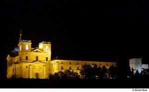 Uclés (Cuenca), 10-07-02.- Imagen del Monasterio de Uclés (Cuenca) con la nueva iluminación artística exterior.